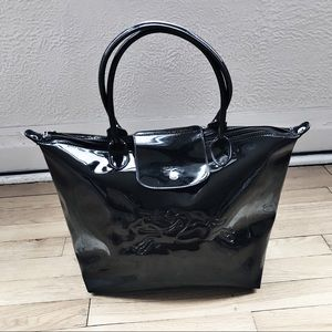 Longchamp Victoire Patent Leather Tote Bag